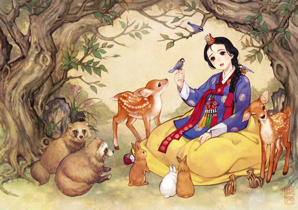 1asian-korean-disney-remake-illustration-na-young-wu-1