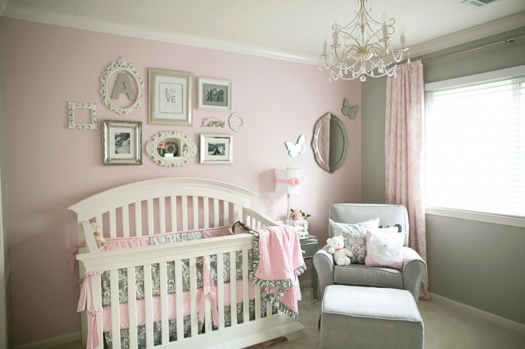 Nursery Pink Curtains Image