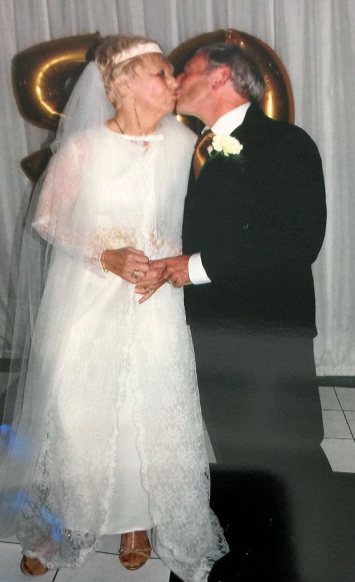 couple wedding clothes 50th anniversary carole ann jim stanfield 3