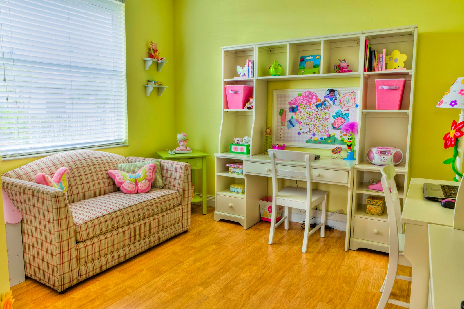 cute ideas childrens room design with white wooden computer desk be equipped chair above wood floor and white wooden study desk equipped with storage shelves near small green wooden square table also