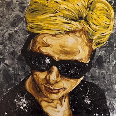 2. John Valyrakis Underneath the Stars Acrylics on Canvas 1.20 x 1.20m LQ