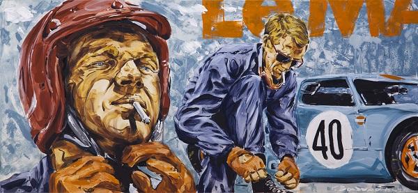 3. John Valyrakis Thrust Acrylics on Canvas 0.60 x 1.20m LQ