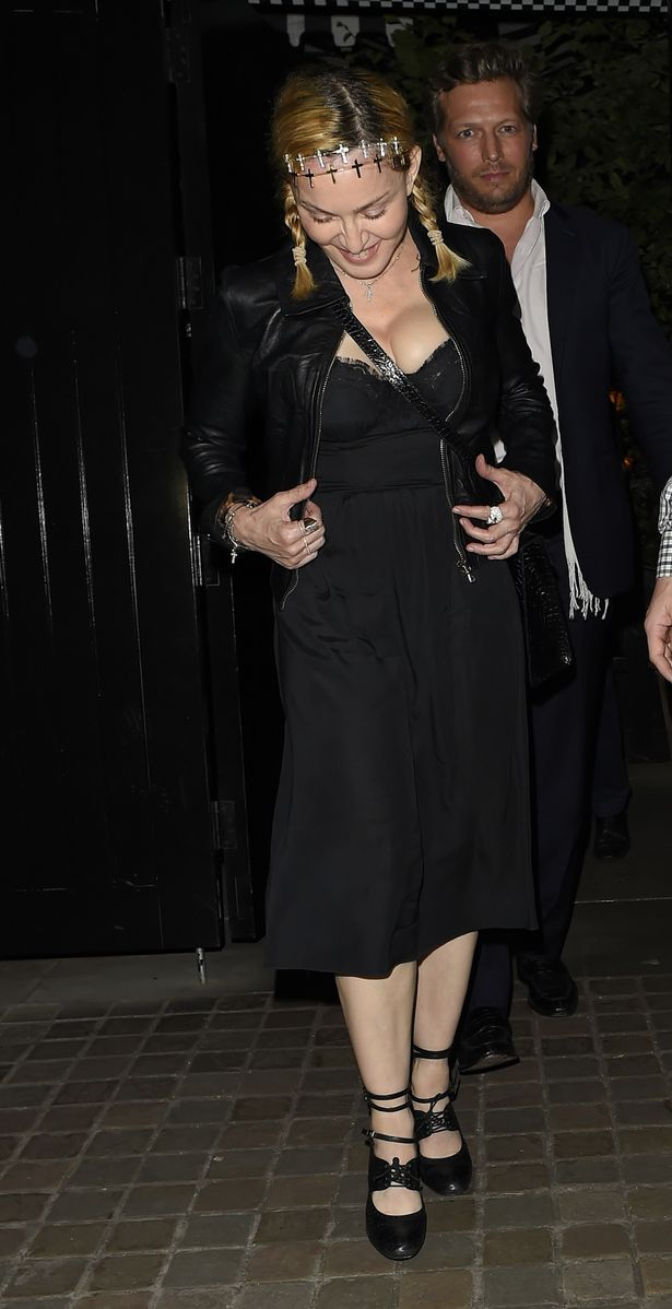 Madonna and Rocco Richie seen leaving the Chiltern Firehouse 1