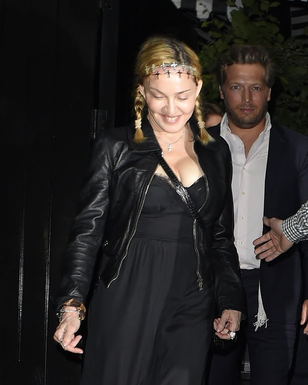 Madonna and Rocco Richie seen leaving the Chiltern Firehouse 2