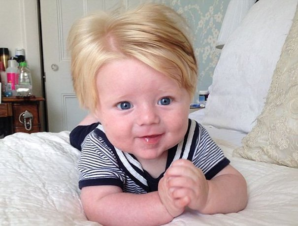 funny hair baby 12