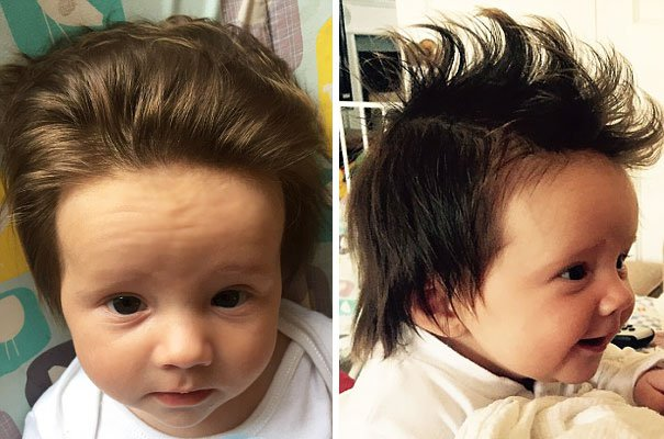 funny hair baby 8
