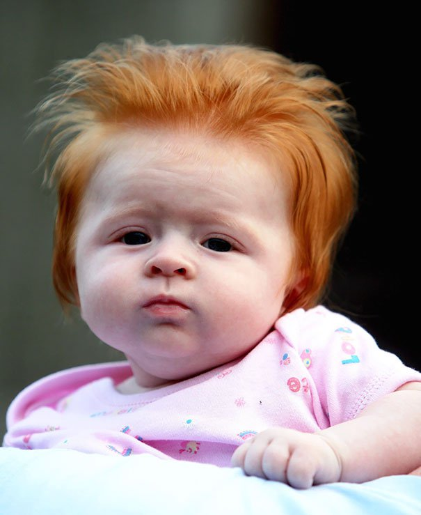 funny hair baby 9