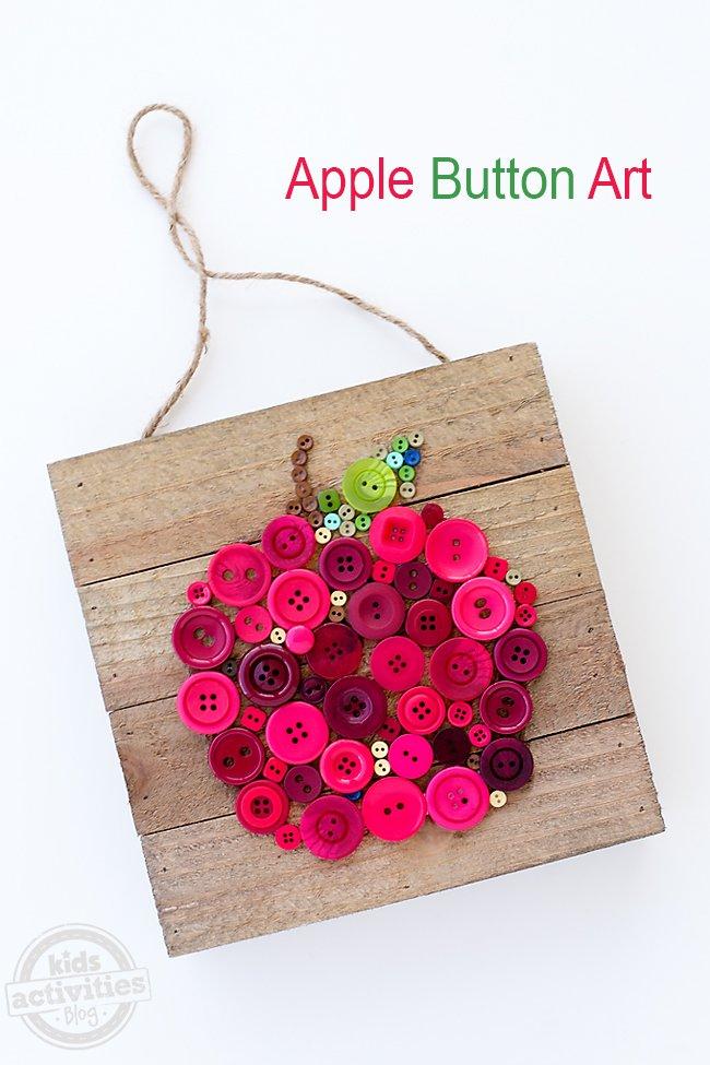 Apple Button Art