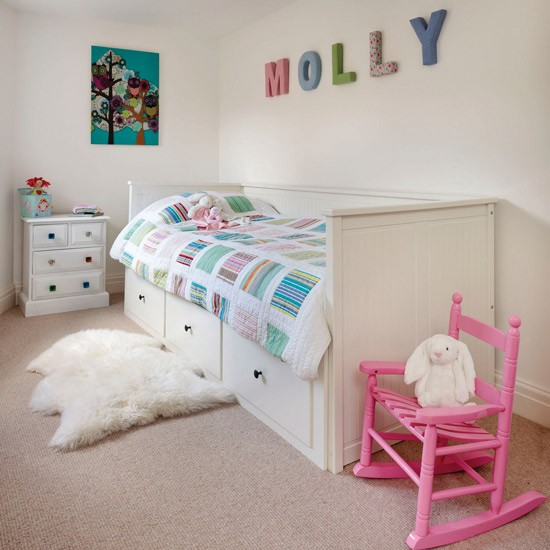 childs room budget design ideas fabric letters Ideal Home