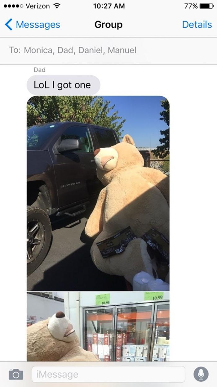 grandfather baby gift giant teddy bear madeline jane sabrina gonzalez 11