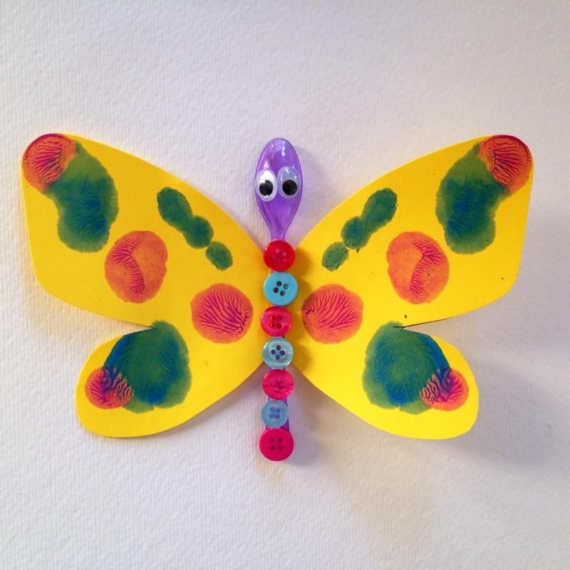 spoon button butterfly butterfly craft kids button butterfly butterfly kids spoon craft ideas43