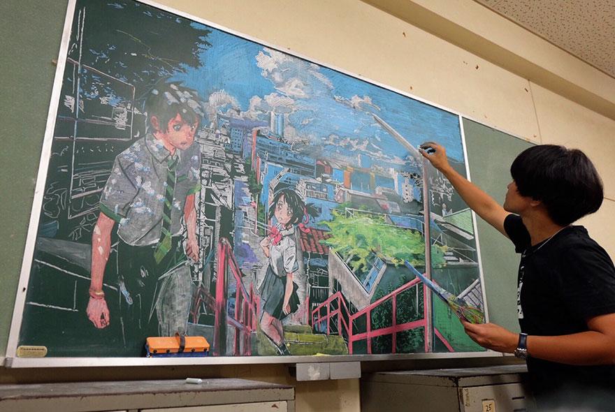 teacher chalkboard art hirotaka hamasaki10