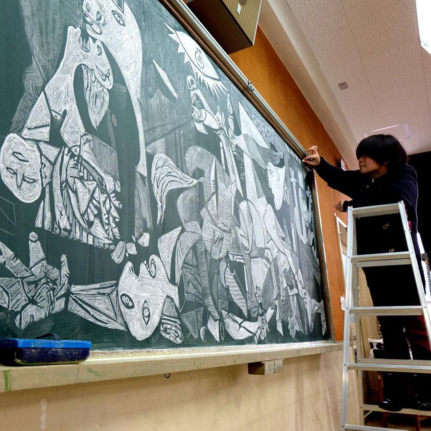 teacher chalkboard art hirotaka hamasaki16