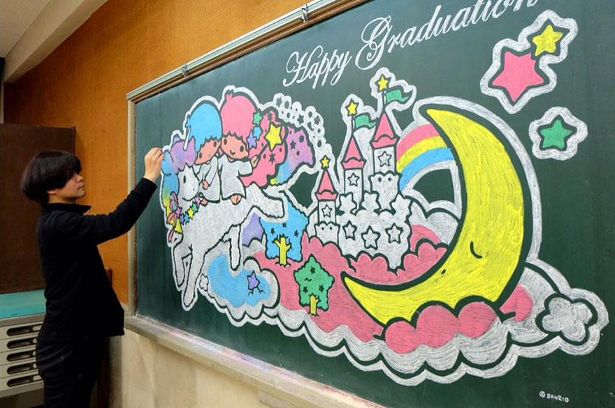 teacher chalkboard art hirotaka hamasaki17