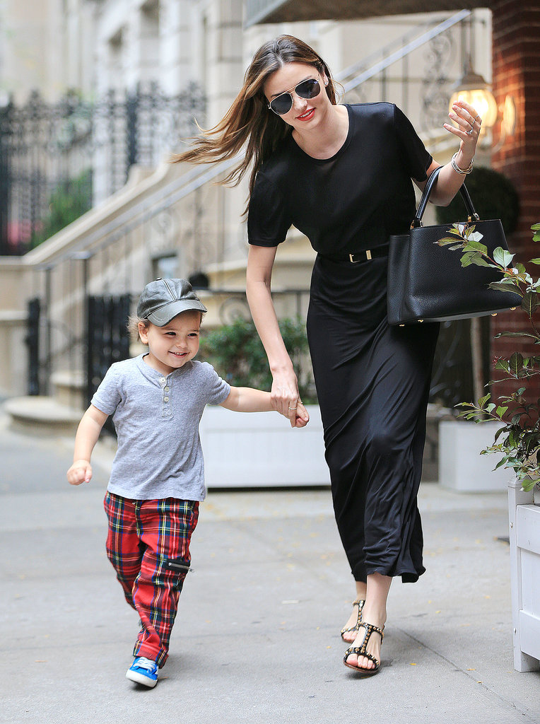 Cute Flynn Bloom Waving NYC Miranda Kerr