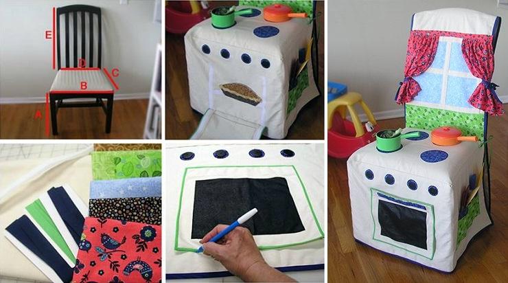 DIY Kids Kitchen Slipcover