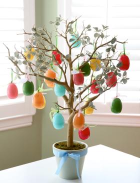 Our Family Blog easter egg tree