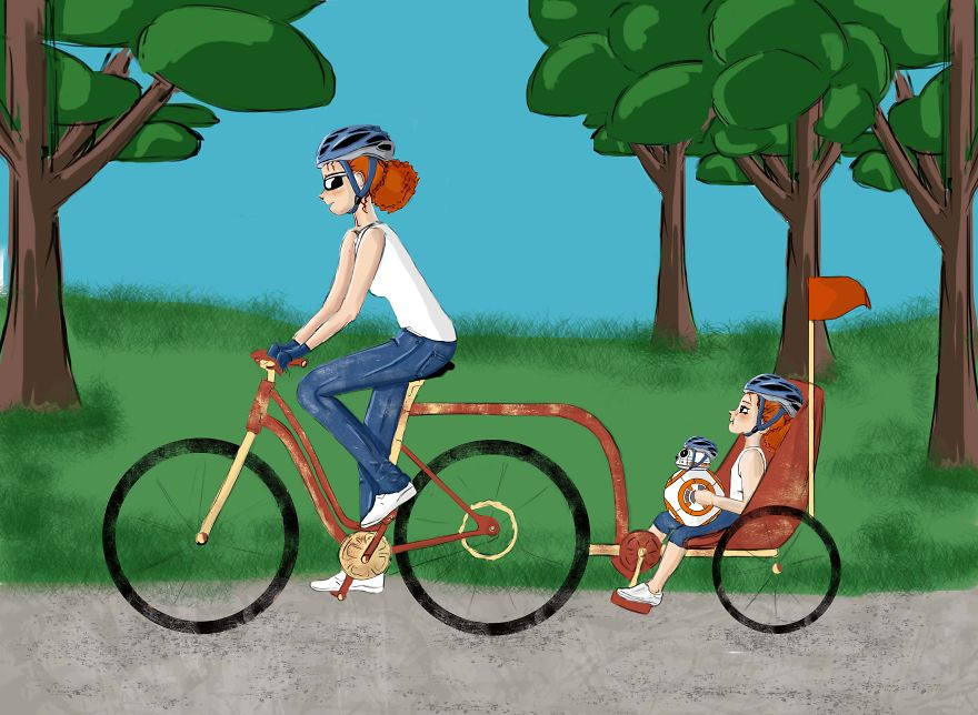 i illustrated the sweetest moments of mommy and daughter relationship 5 880