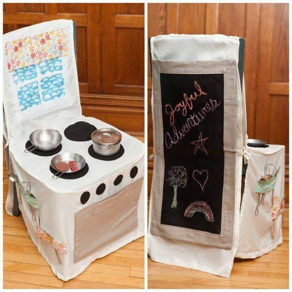play kitchen chair cover for kids 5