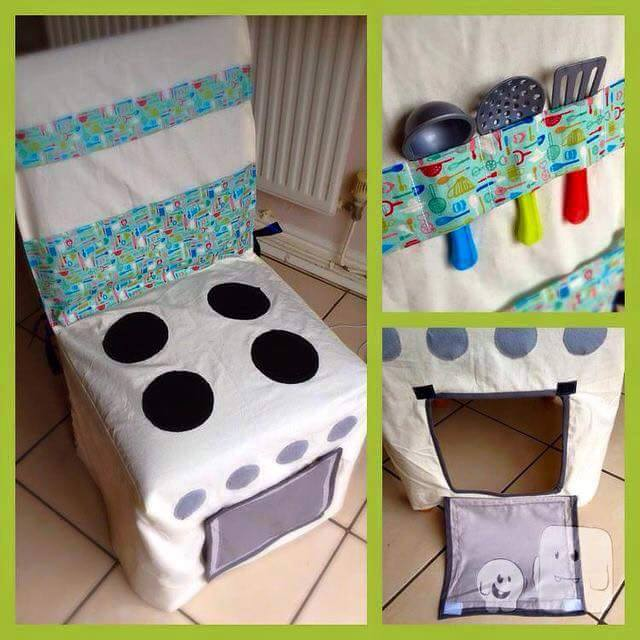 play kitchen stove chair cover for kids 5