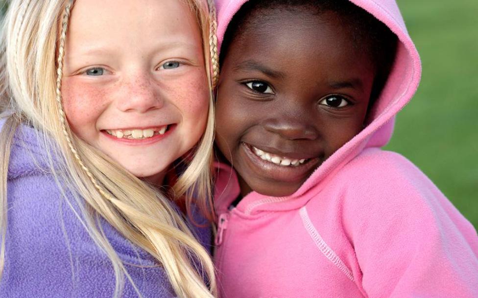 white and black girls