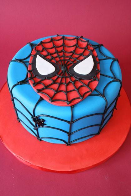 birthday cakes for boys spiderman