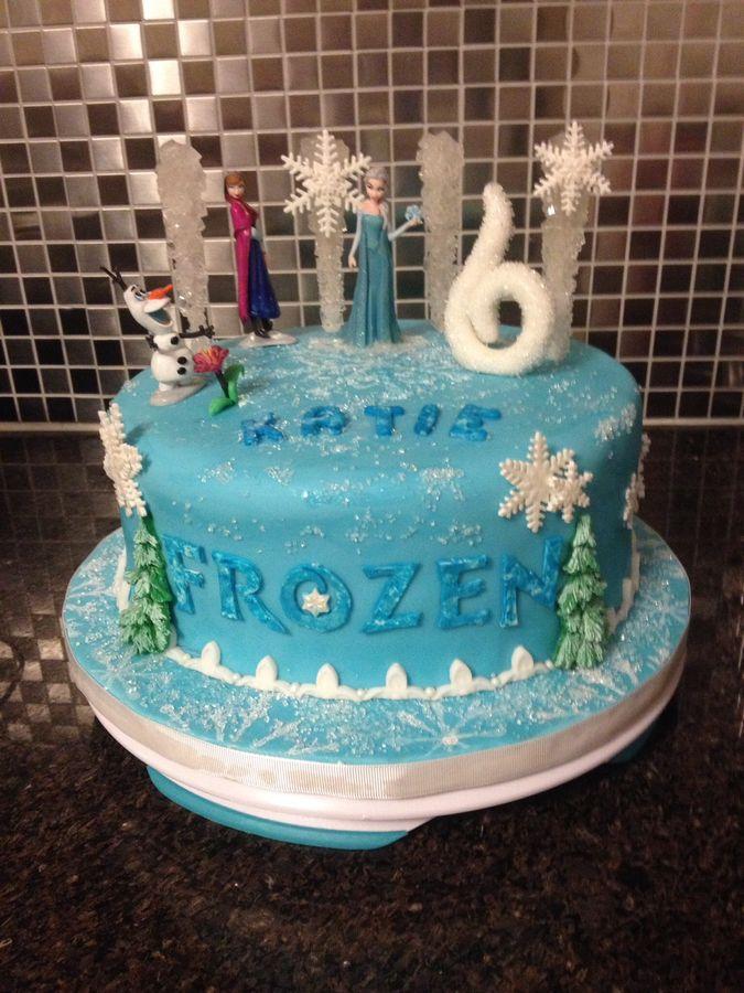 disney frozen birthday cake theme
