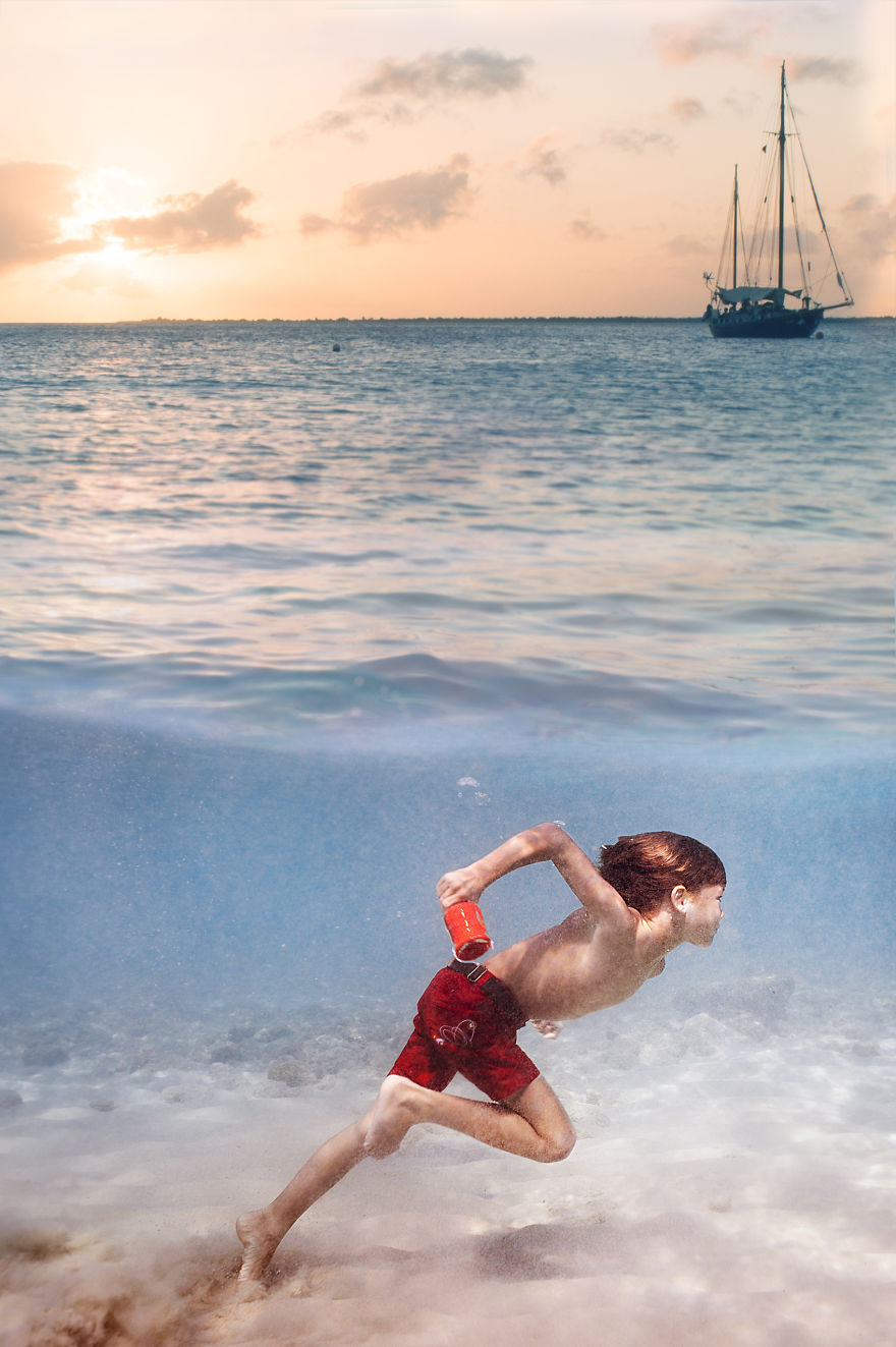 i travelled to bonaire island and photographed local children underwater 11 880