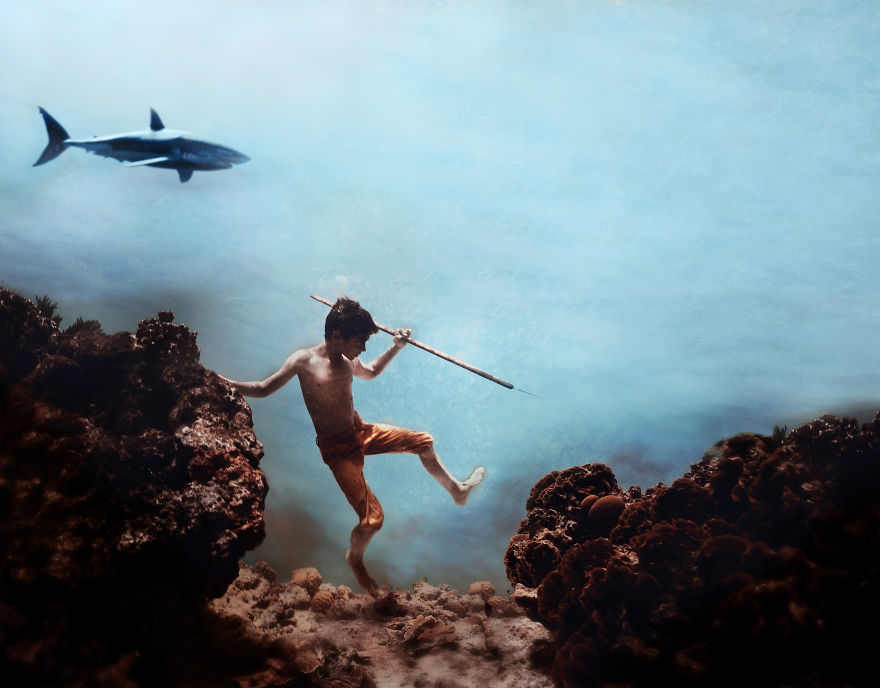 i travelled to bonaire island and photographed local children underwater 4 880