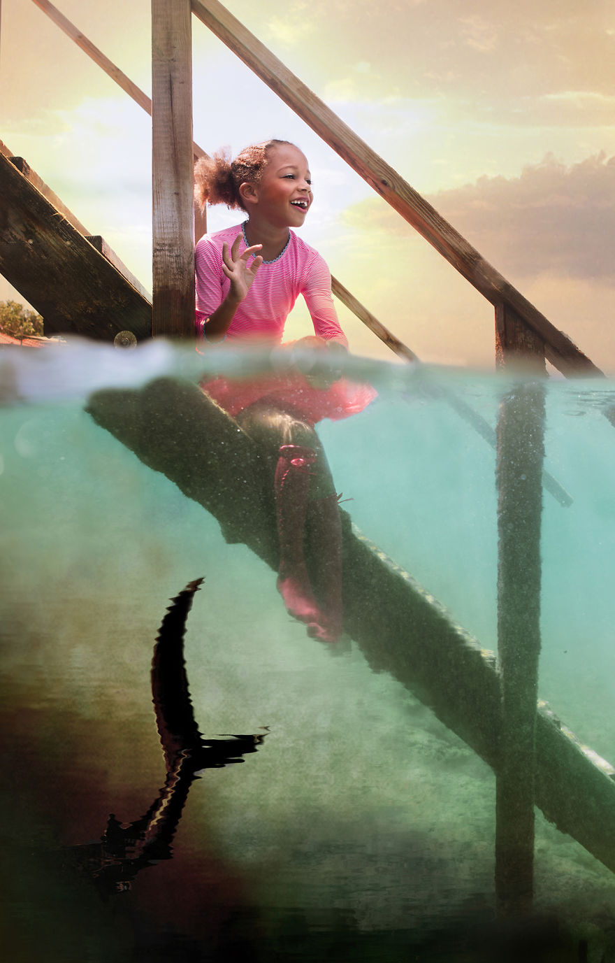i travelled to bonaire island and photographed local children underwater 6 880
