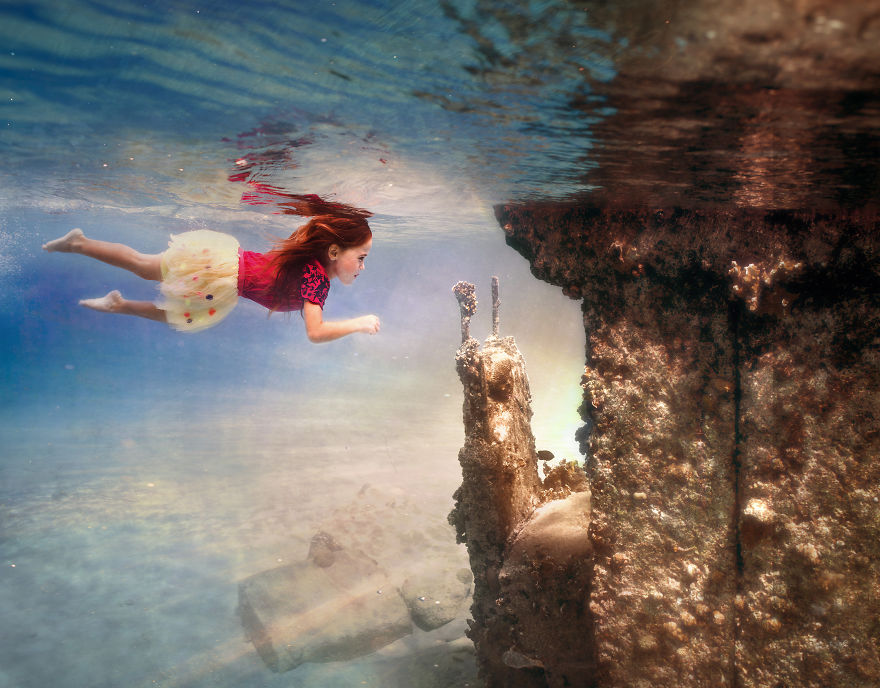 i travelled to bonaire island and photographed local children underwater 9 880