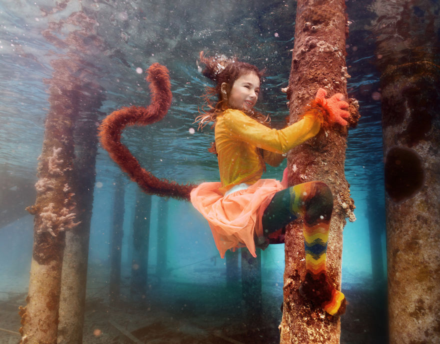 i travelled to bonaire island and photographed local children underwater 880