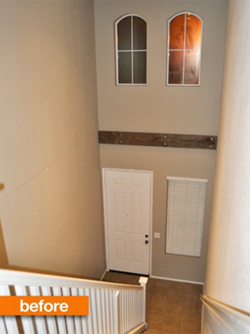 two story entrance