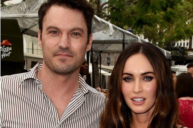 Actors Brian Austin Green L and Megan Fox