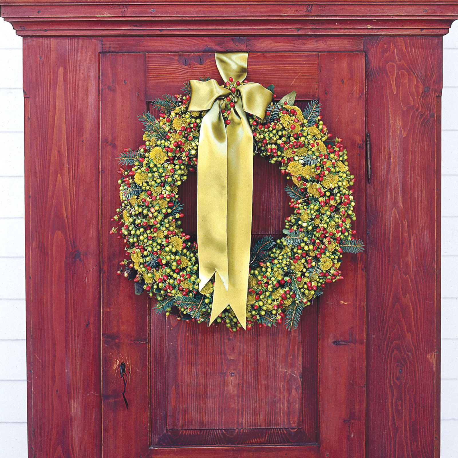square 550040dd01318 ghk christmas wreath craft decorate green flowers s2