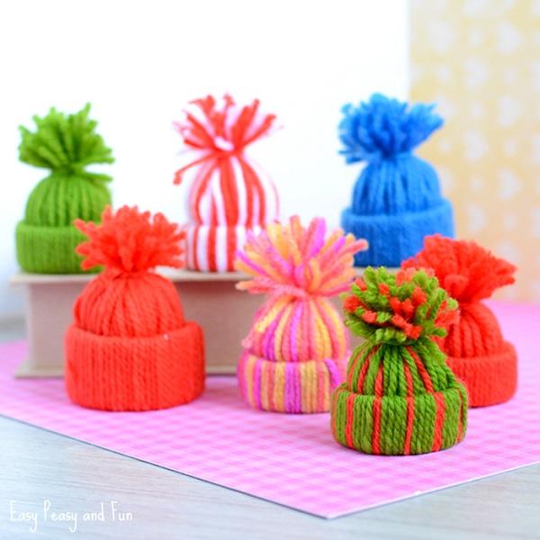 Mini Yarn Hats 1