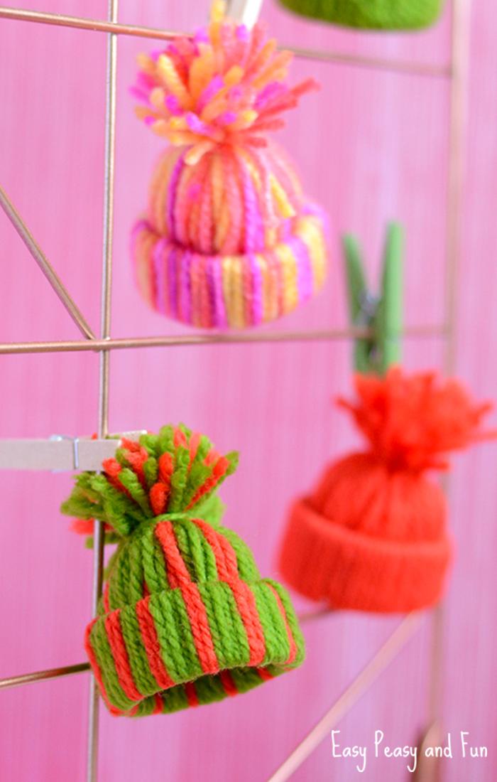 Yarn Hat Ornaments 1