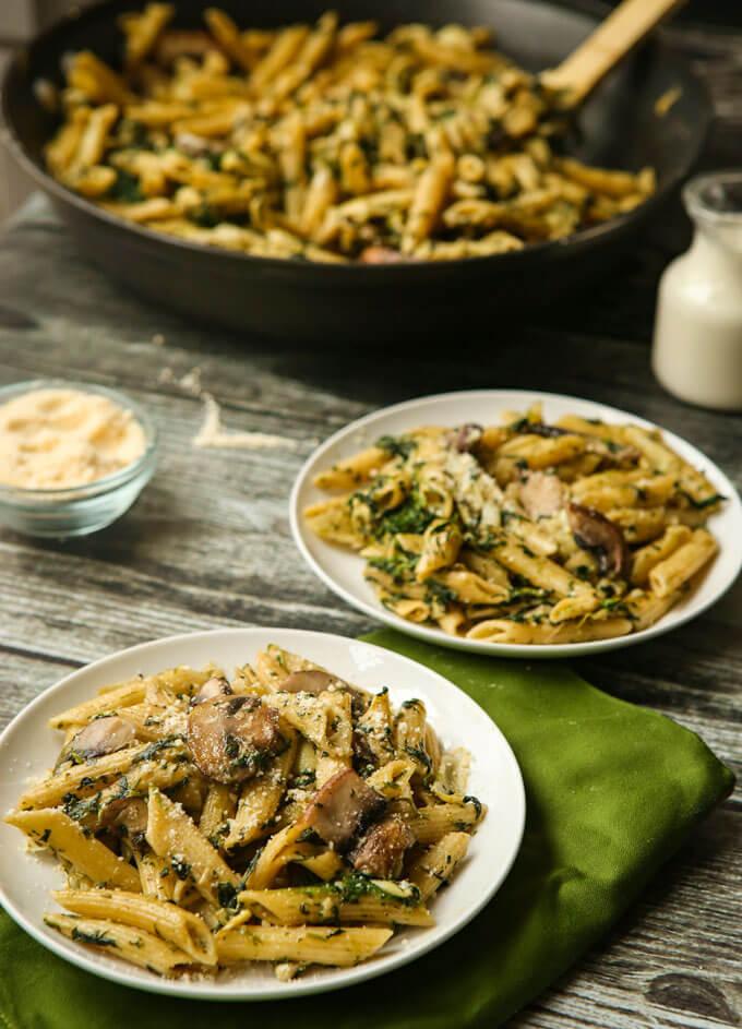 Spinach artichoke pasta 01