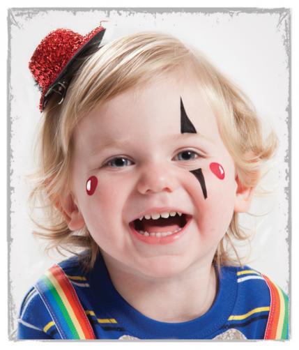 halloween facepaint clown