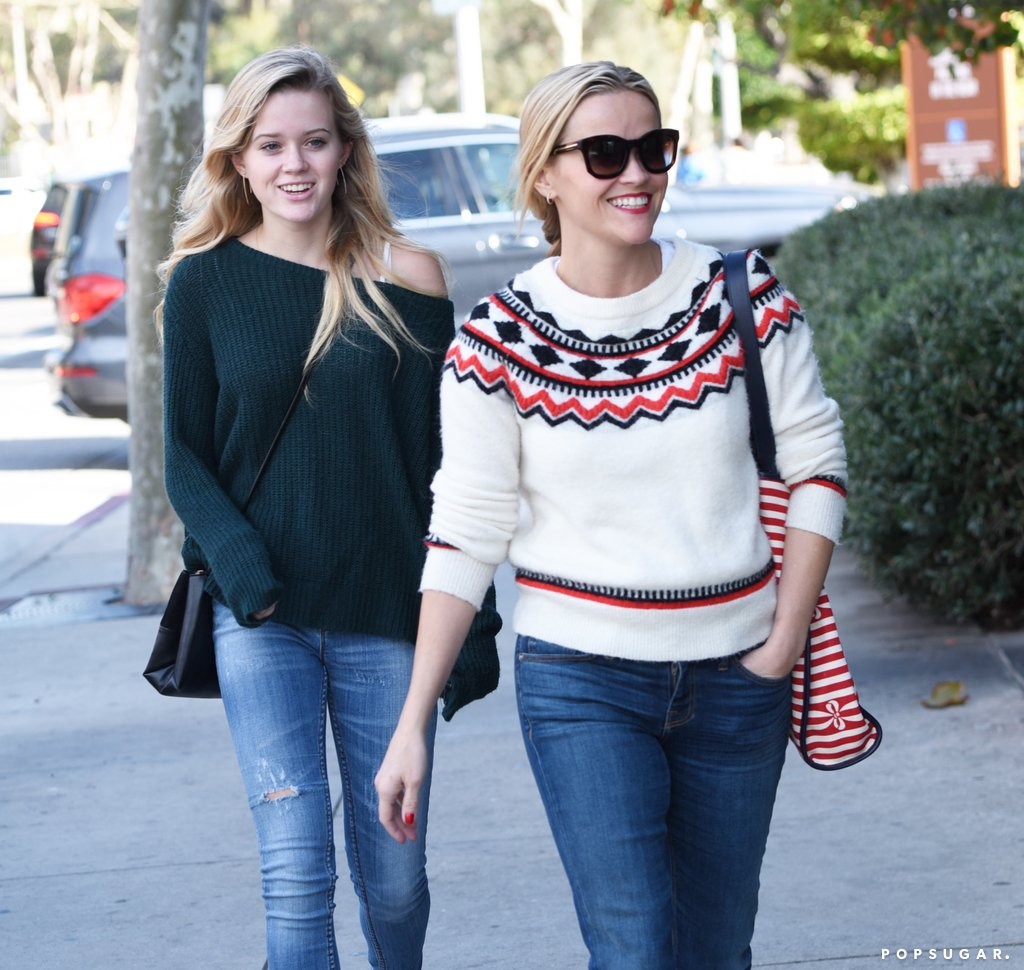 Reese Witherspoon Ava Phillippe Leaving Brunch LA