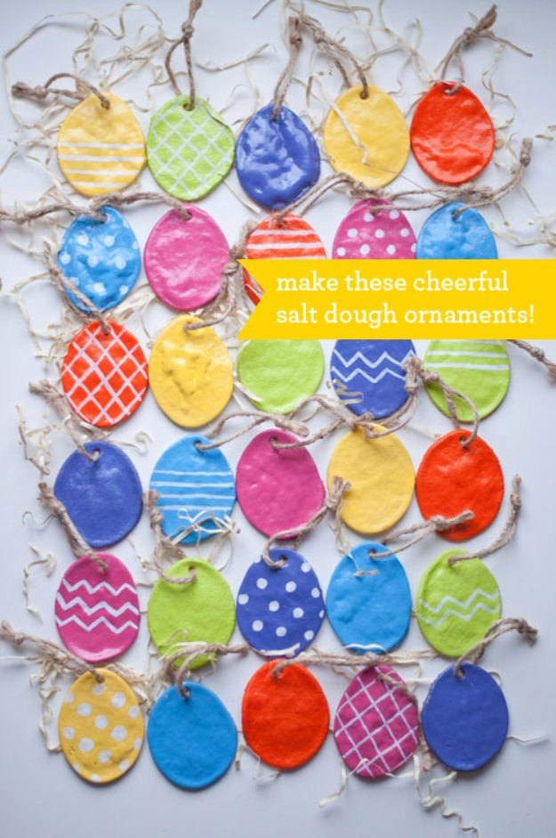 DIY Salt Dough Easter Egg Ornaments