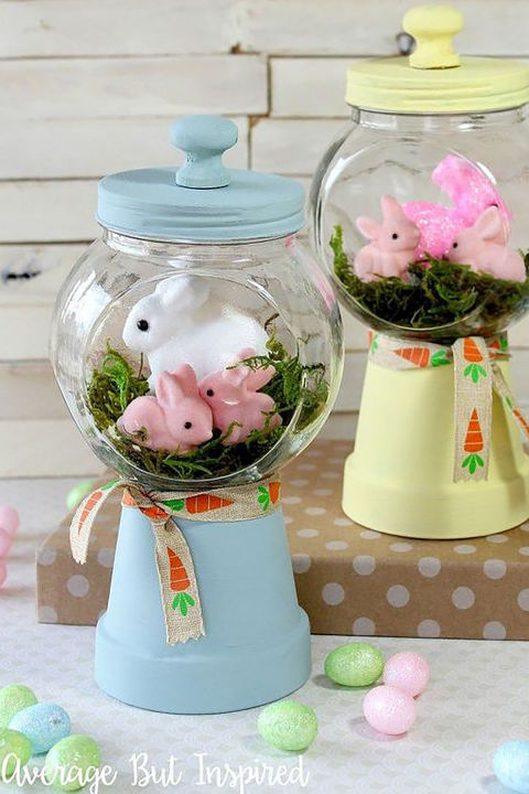 gallery 1485467160 spring bunnies diy gumball machine craft crafts easter decorations seasonal holiday decor 1