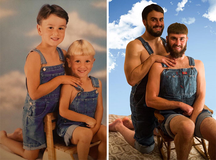 siblings childhood photo recreation 36 58f4b765391d3 700