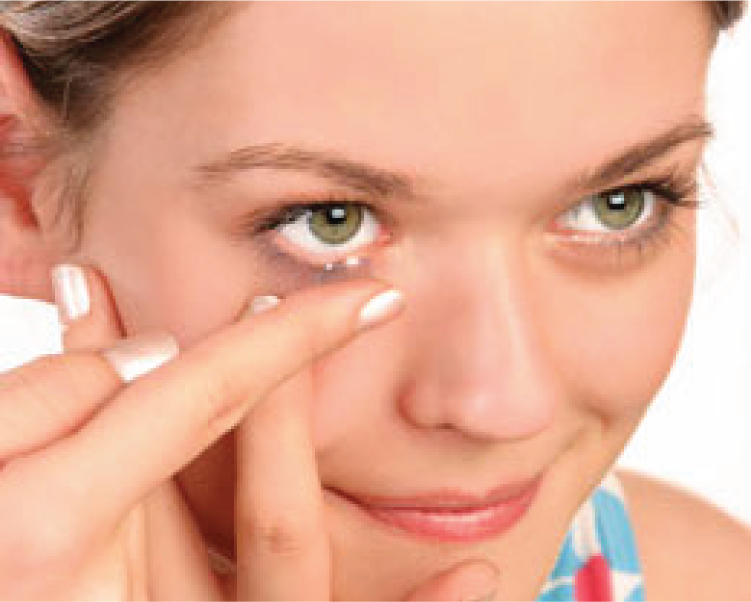 Teenagers and children cant wear contact lenses