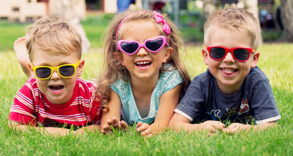 Children with sunglasses