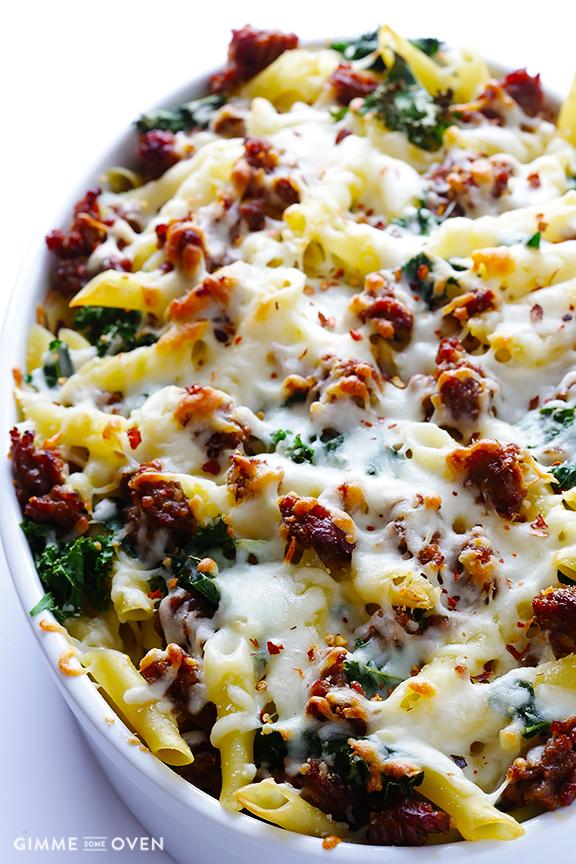 5 Ingredient Italian Sausage and Kale Baked Ziti 61