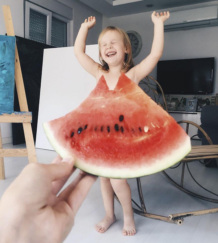 Κοριτσακι φωτογράφιση με φρούτα και λαχανικά 6