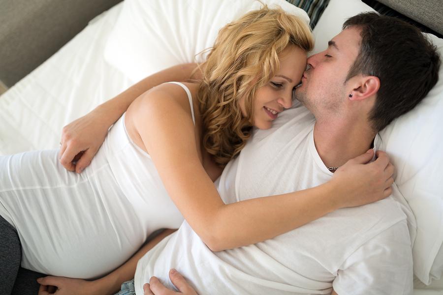 bigstock Happy Pregnant Blonde Woman Re 236578132
