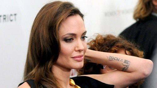 Angelina Jolie tattoos 2