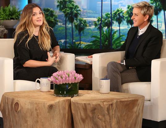 Ellen DeGeneres Drew Barrymore